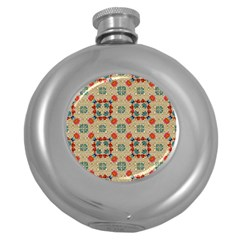 Traditional Scandinavian Pattern Round Hip Flask (5 Oz) by BangZart