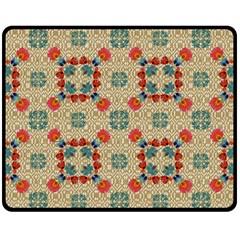 Traditional Scandinavian Pattern Fleece Blanket (medium)