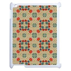 Traditional Scandinavian Pattern Apple Ipad 2 Case (white)