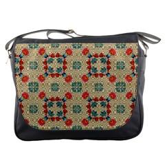 Traditional Scandinavian Pattern Messenger Bags