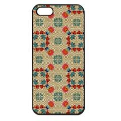 Traditional Scandinavian Pattern Apple Iphone 5 Seamless Case (black)