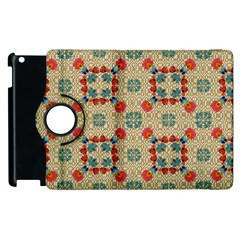 Traditional Scandinavian Pattern Apple Ipad 3/4 Flip 360 Case by BangZart