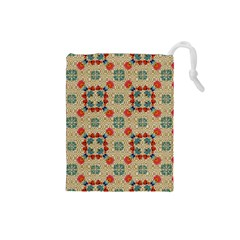 Traditional Scandinavian Pattern Drawstring Pouches (small)