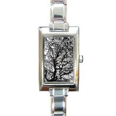 Tree Fractal Rectangle Italian Charm Watch by BangZart