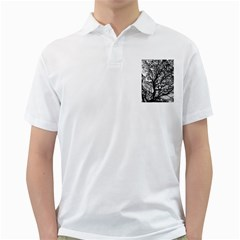 Tree Fractal Golf Shirts