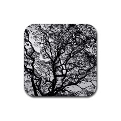 Tree Fractal Rubber Coaster (square)