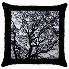 Tree Fractal Throw Pillow Case (black) by BangZart