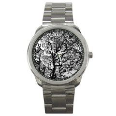 Tree Fractal Sport Metal Watch by BangZart