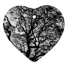 Tree Fractal Heart Ornament (two Sides) by BangZart