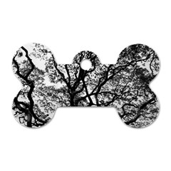 Tree Fractal Dog Tag Bone (one Side)