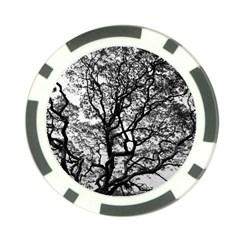 Tree Fractal Poker Chip Card Guard