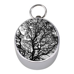 Tree Fractal Mini Silver Compasses by BangZart