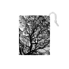 Tree Fractal Drawstring Pouches (small)