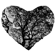 Tree Fractal Large 19  Premium Flano Heart Shape Cushions by BangZart