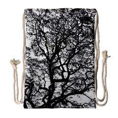 Tree Fractal Drawstring Bag (large) by BangZart