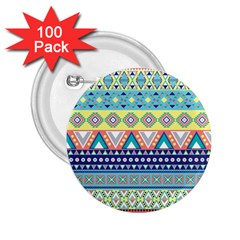 Tribal Print 2 25  Buttons (100 Pack)