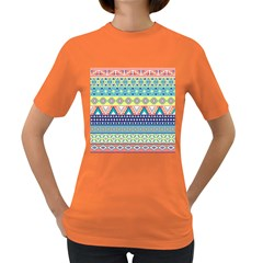 Tribal Print Women s Dark T Shirt