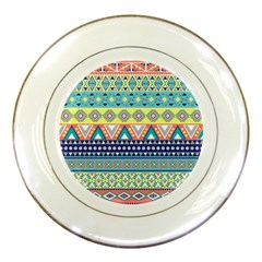 Tribal Print Porcelain Plates by BangZart