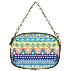 Tribal Print Chain Purses (two Sides)