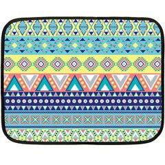 Tribal Print Fleece Blanket (mini) by BangZart