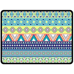 Tribal Print Fleece Blanket (large)