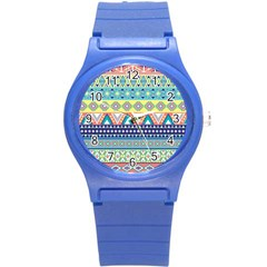 Tribal Print Round Plastic Sport Watch (s) by BangZart