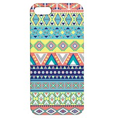 Tribal Print Apple Iphone 5 Hardshell Case With Stand