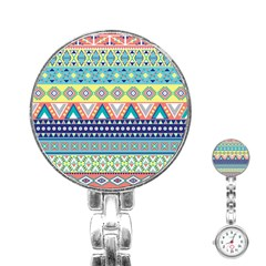 Tribal Print Stainless Steel Nurses Watch by BangZart