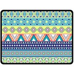 Tribal Print Double Sided Fleece Blanket (Large)  80 x60 Blanket Front