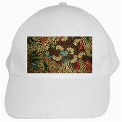 Traditional Batik Art Pattern White Cap by BangZart
