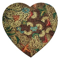 Traditional Batik Art Pattern Jigsaw Puzzle (heart) by BangZart