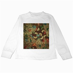 Traditional Batik Art Pattern Kids Long Sleeve T Shirts