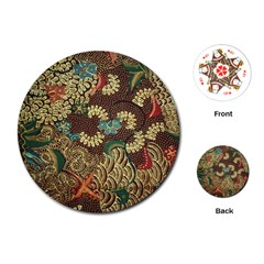 Traditional Batik Art Pattern Playing Cards (round)