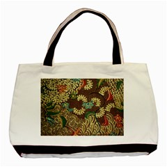Traditional Batik Art Pattern Basic Tote Bag
