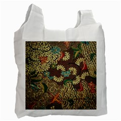Traditional Batik Art Pattern Recycle Bag (two Side)  by BangZart