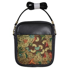 Traditional Batik Art Pattern Girls Sling Bags by BangZart