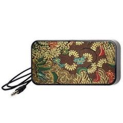 Traditional Batik Art Pattern Portable Speaker (black)