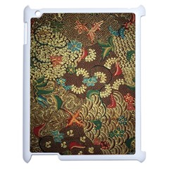 Traditional Batik Art Pattern Apple Ipad 2 Case (white) by BangZart
