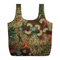 Traditional Batik Art Pattern Full Print Recycle Bags (l)
