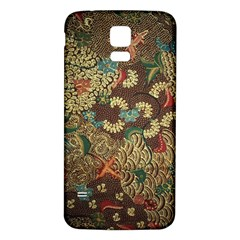 Traditional Batik Art Pattern Samsung Galaxy S5 Back Case (white)