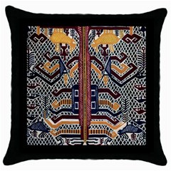 Traditional Batik Indonesia Pattern Throw Pillow Case (black)