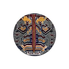 Traditional Batik Indonesia Pattern Rubber Coaster (round)  by BangZart
