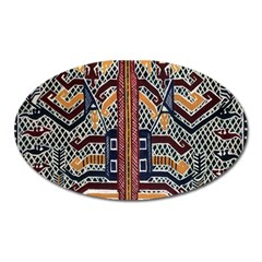 Traditional Batik Indonesia Pattern Oval Magnet by BangZart