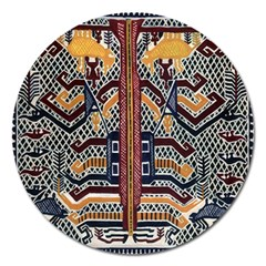 Traditional Batik Indonesia Pattern Magnet 5  (round) by BangZart