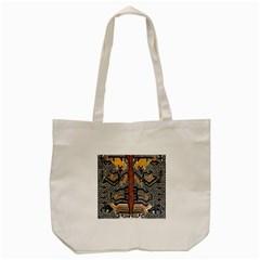Traditional Batik Indonesia Pattern Tote Bag (cream) by BangZart