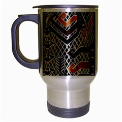 Traditional Batik Indonesia Pattern Travel Mug (silver Gray)