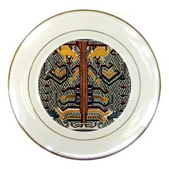 Traditional Batik Indonesia Pattern Porcelain Plates by BangZart