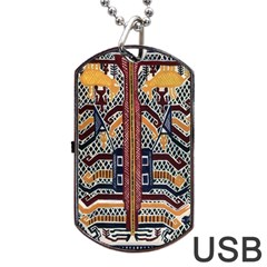 Traditional Batik Indonesia Pattern Dog Tag Usb Flash (one Side) by BangZart