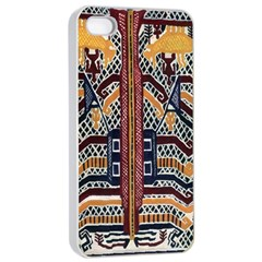 Traditional Batik Indonesia Pattern Apple Iphone 4/4s Seamless Case (white)