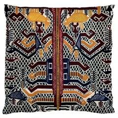 Traditional Batik Indonesia Pattern Large Cushion Case (two Sides) by BangZart